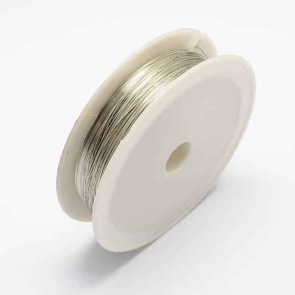 20 meter Ijzerdraad voor Sieraden Zilver 0.3mm