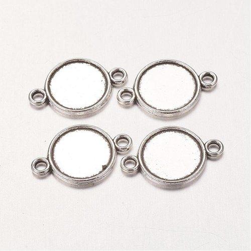 8 stuks Tussenzetsel Zilver voor 10mm
