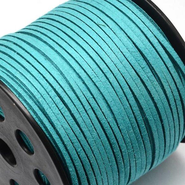 Faux Suede Cord Aqua Blue 3mm, 3 meter
