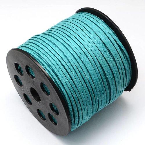 Suede Veter Aqua Blauw 3mm, 3 meter