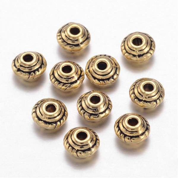 20 pcs Bicone Spacer Gold 5x3mm