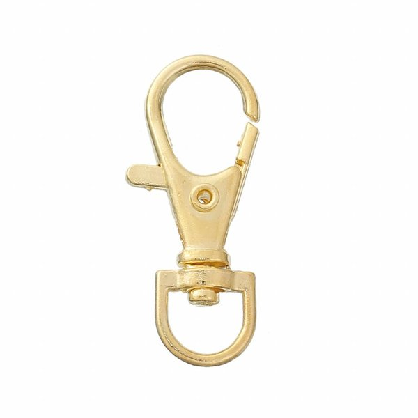 Keychain Gold 33x13mm, 5 pieces