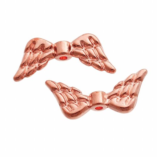 Wing Beads Rose Gold 19x8mm, 6 pieces