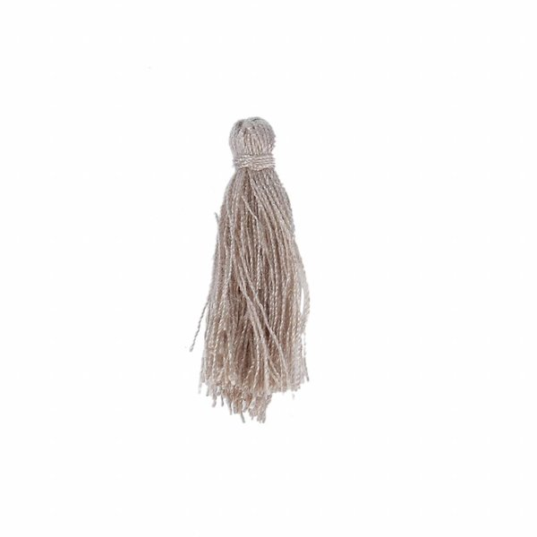 Tassel Beige 25mm, 5 pieces