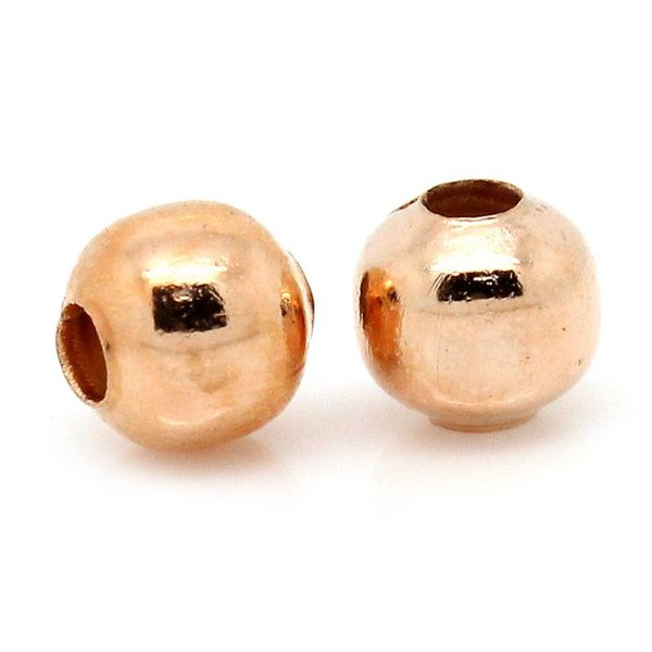 Spacer Beads Rose Gold 4mm, 100 pieces