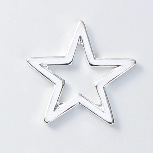 Star Connector Silver 17mm, 5 pieces