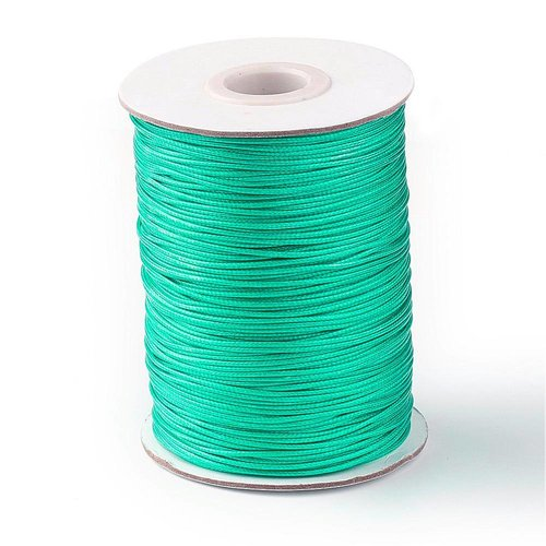 Waxed Cord Sea Green 1mm, 3 meter