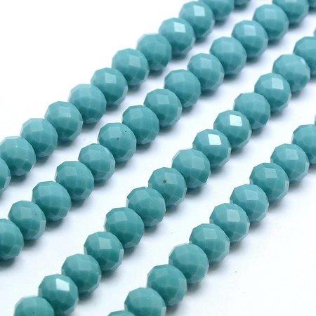 30 pcs Facet Bead Turquoise 8x6mm
