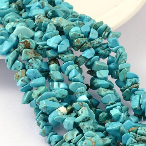 Imitation Turquoise Chip Beads 4-8mm, strand 210 pieces
