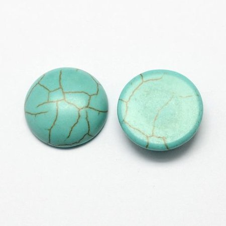 5 pieces Turquoise Cabochon 10mm