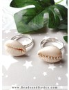 Adjustable Ring Silver 17mm, 4 pieces