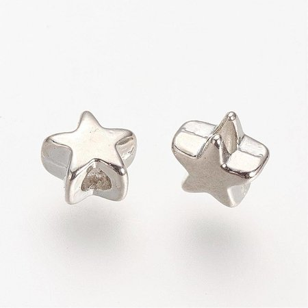 Metal Beads Star 5mm Nickel Free, 20 pieces