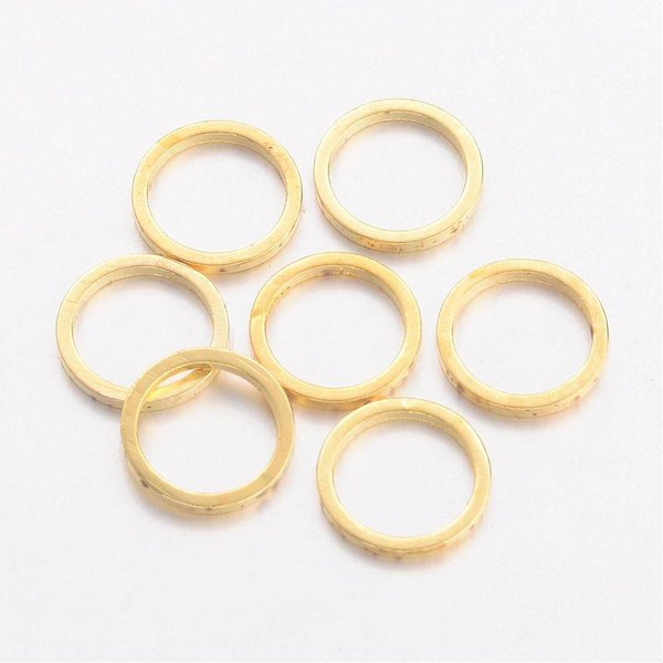 Karma Charm Round Gold 8mm, 20 pieces