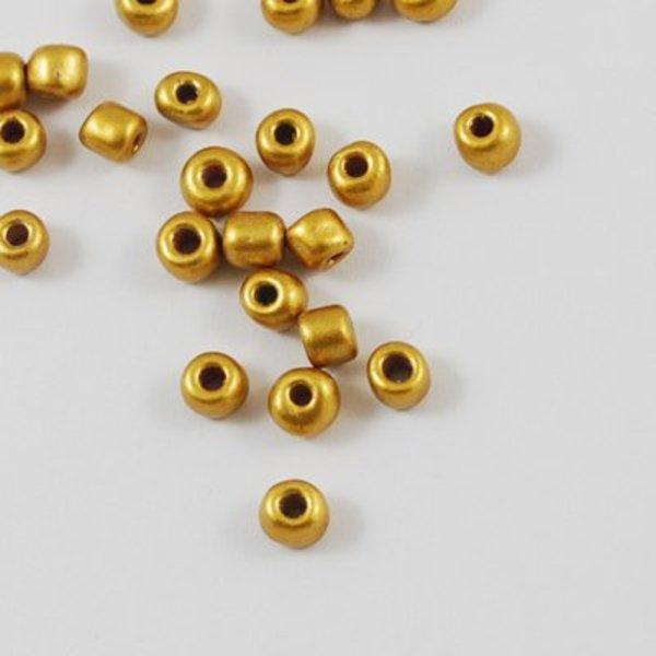Seed Beads 4mm Matte Gold, 20 gram