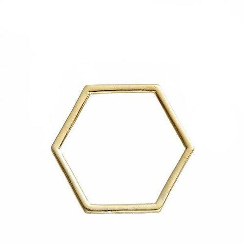 Honeycomb Goud 17x15mm, 8 stuks
