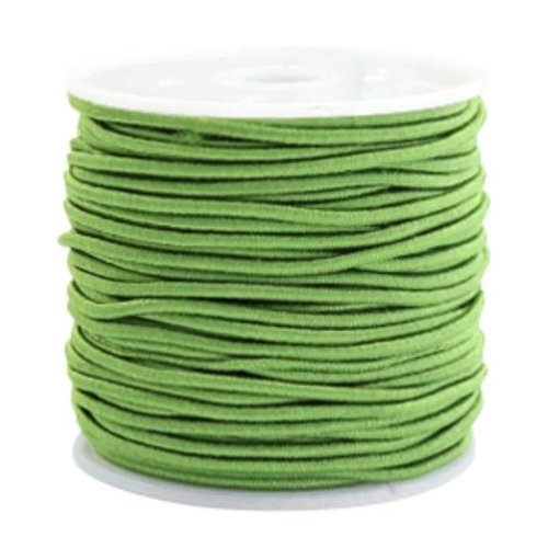 Elastic 1.5mm Green, 1 meter