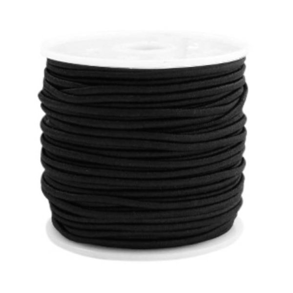 Elastic 1.5mm Black, 1 meter