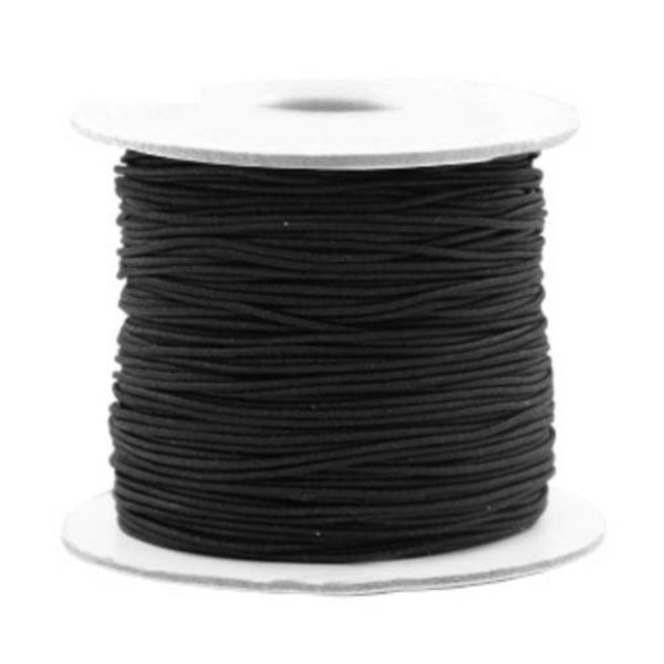 Elastiek Zwart 1.2mm, 3 meter