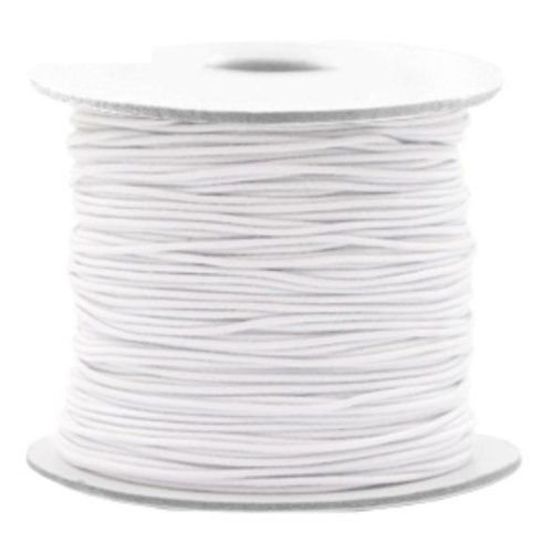 Elastic Cord White 1mm, 3 meters