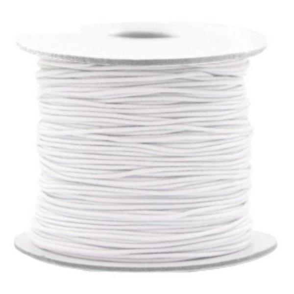 Elastic Cord White 1mm, 3 meters
