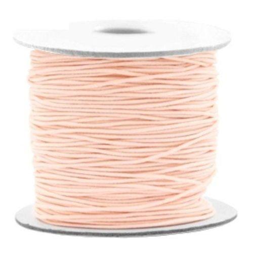 3 meter Elastic Salmon pink 1mm