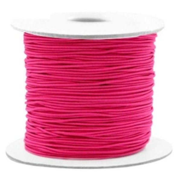 Elastic Cord Fuchsia Pink 1mm, 3 meters