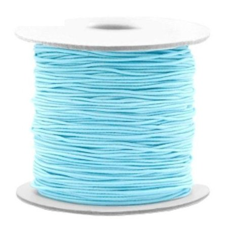 Elastic Cord Light Blue 1mm, 3 meter