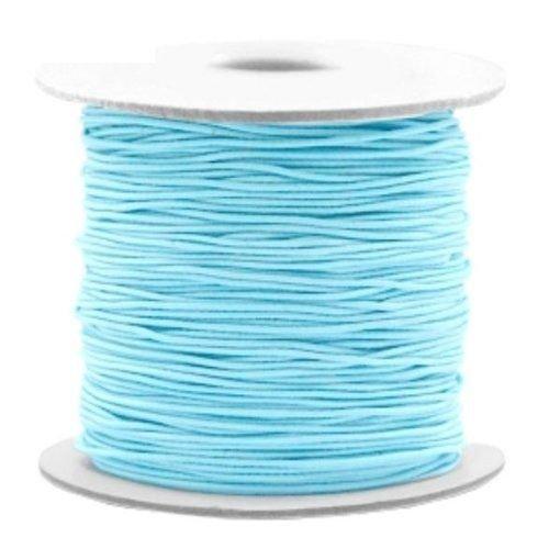 3 meter Elastiek Licht Blauw 1mm
