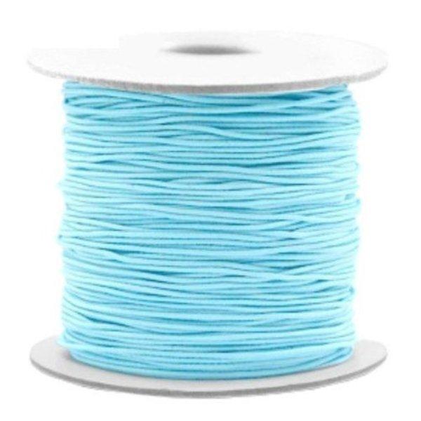 Elastiek Licht Blauw 1mm, 3 meter