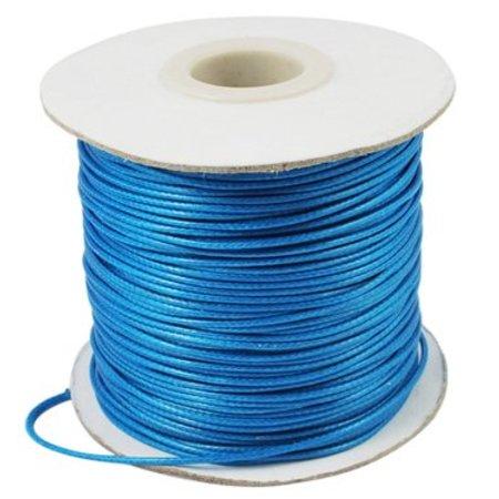 Blue waxed cord 1mm, 3 meters