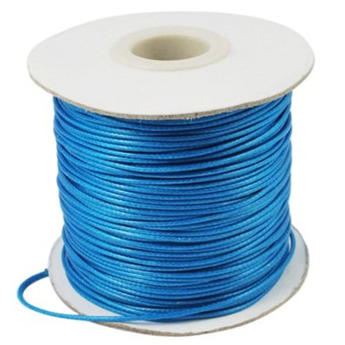 Blue waxed cord 1mm, 3 meters