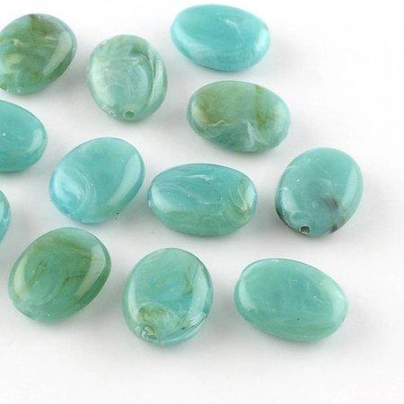 Gemstone Look Kralen Turkoois 19x15mm, 8 stuks