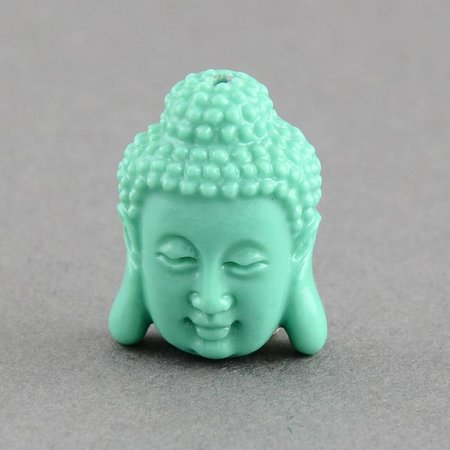 3 pieces Buddha Mint 15x11mm