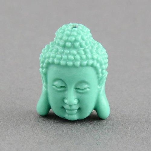 3 stuks Buddha Kraal Mint 15x11mm