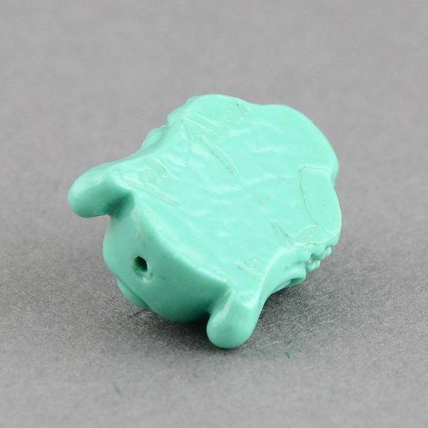 Buddha Bead 15x11mm Mint