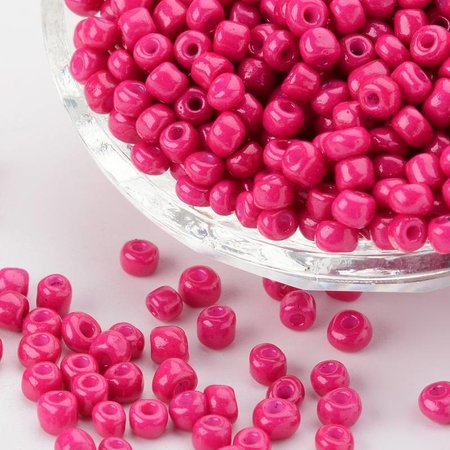 Seedbeads Dark Fuchsia 4mm, 20 gram