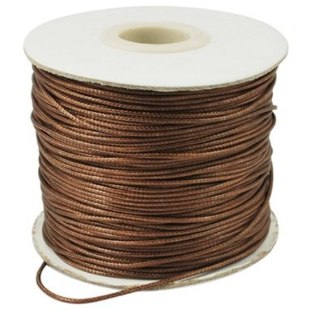 3 meter Waxed Cord Brown 1mm