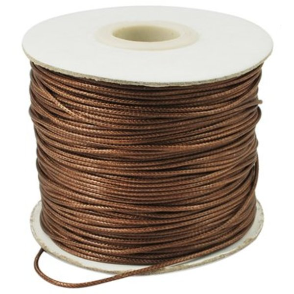 Waxed Cord Brown 1mm, 3 meter