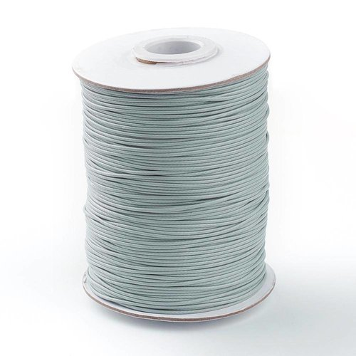 Waxed Cord Gray 1mm, 3 meter