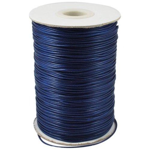 3 meter Waxkoord Donker Blauw 1mm