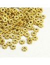 Spacer Beads Goud 4mm, 100 stuks