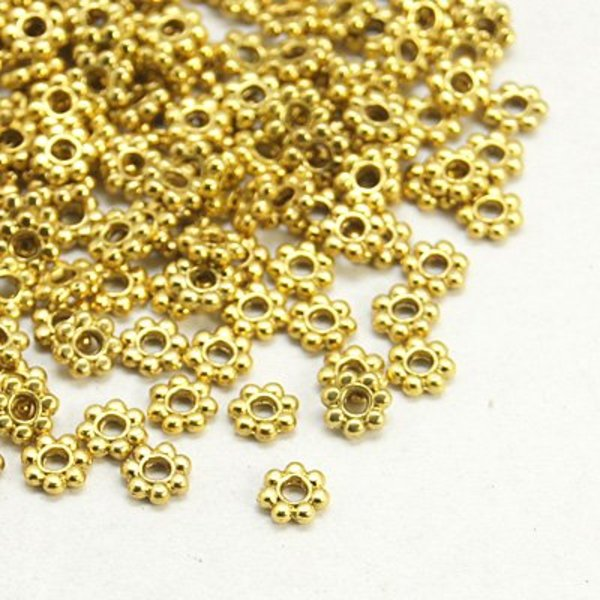 Spacer Beads Gold 4mm, 100 pieces