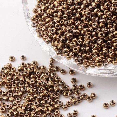 7 grams Seed Brown Metallic 2mm