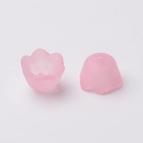 Flower Beads Light Pink 10x6mm, 10 pieces