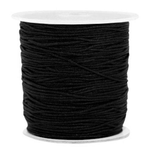Macramedraad 1mm Black, 5m