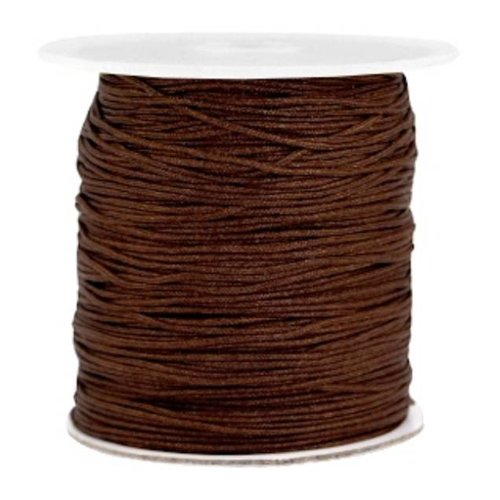 Macramedraad 1mm Brown, 5 meters