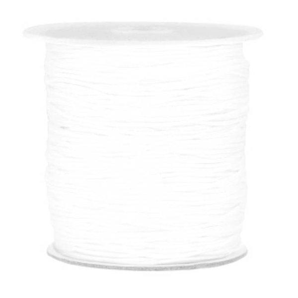 Macramedraad 1mm White, 5 meter
