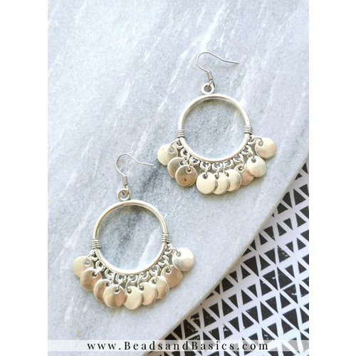 Silver Coin Earrings - Great For Parties!