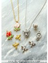Minimalistic Necklaces And Earrings With Bee Charms - Silver And Gold