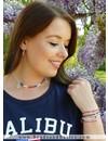 Tommy Girl Inspired Ketting Met Armbanden Setje - Blauw Rood Met Wit